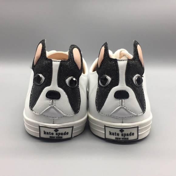 60a309afdb2d kate spade Shoes - Kate Spade NY Lucie Leather French Bulldog Sneaker